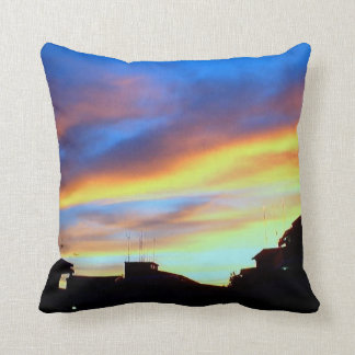 """SUNSET SHOT AND PAINTED Throw Pillow 20"""" x 20"""""""