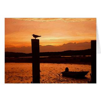 sunset shot card