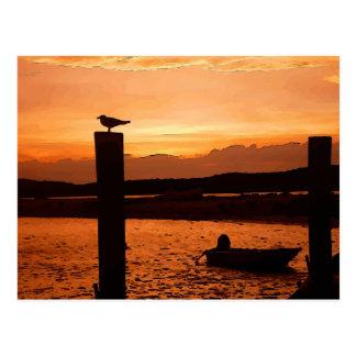 sunset shot postcard