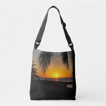 Beach Themed Sunset Silhouette Bag