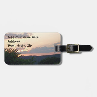 Sunset Silhouette Bag Tag