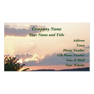 Sunset Silhouette Business Card Templates