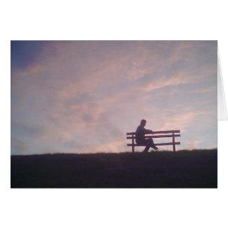 Sunset Silhouette Card