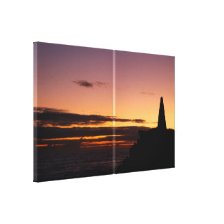 Sunset Silhouette Double Canvas Print