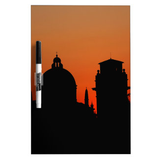 Sunset Silhouette Dry Erase Board