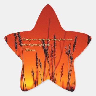 Sunset Silhouette Inspirational Star Sticker