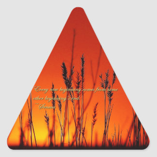 Sunset Silhouette Inspirational Triangle Sticker