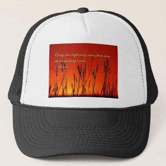 Sunset Silhouette Inspirational Trucker Hat