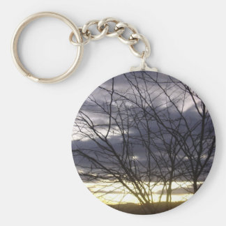 Sunset Silhouette Keychains