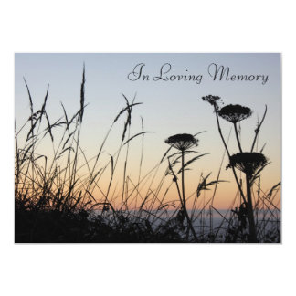 Sunset Silhouette Memorial Service Announcement