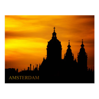 Sunset Silhouette of The Basilica of St. Nicholas Post Card