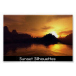 Sunset Silhouettes Posters