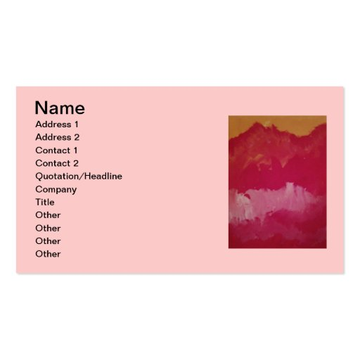 SUNSET SKIES Business Cards, 3.5x2, 100 pack