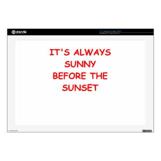 sunset laptop decal
