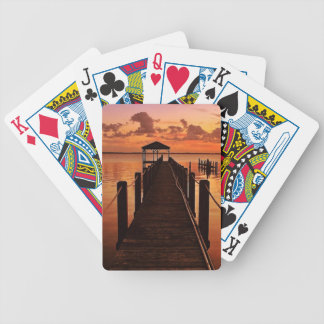 Sunset Sky Bicycle Playing Cards