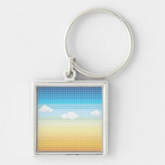 Sunset Sky Mosaic Tile Pattern Keychain