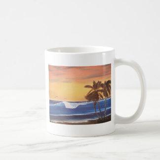 Sunset Sky, Palms & Ocean Coffee Mug