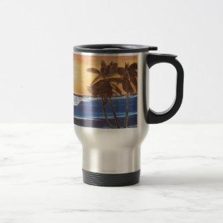 Sunset Sky, Palms & Ocean Travel Mug