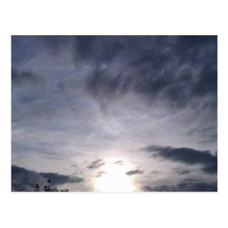 Sunset sky postcard