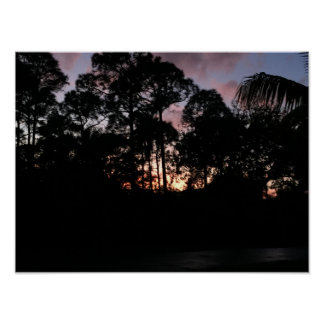 Sunset Sky Tropical Paradise Poster