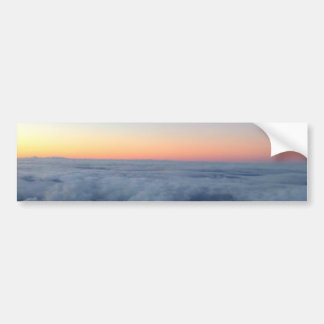Sunset sky view flying above the clouds bumper sticker