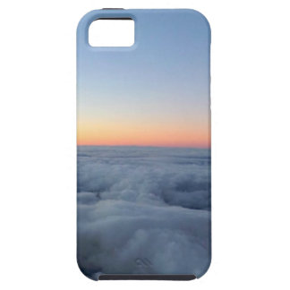 Sunset sky view flying above the clouds iPhone 5 case