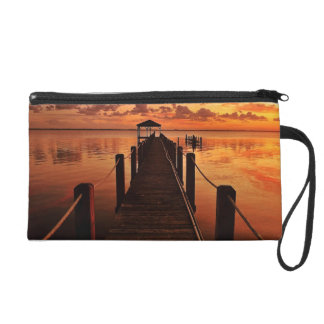 Sunset Sky Wristlet Purse