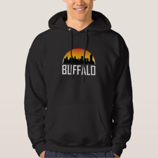 Sunset Skyline of Buffalo NY Hoodie