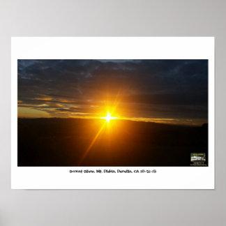 Sunset Sliver, Mt. Diablo, Danville, CA 10-31-15 Poster