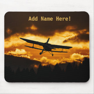 Sunset Small Aircraft Plane Mouse Pad