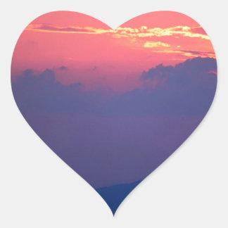 Sunset Smokey Mountain Mortons Overlook Heart Sticker