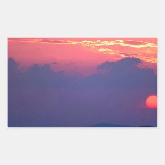 Sunset Smokey Mountain Mortons Overlook Rectangular Sticker