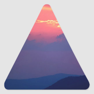 Sunset Smokey Mountain Mortons Overlook Triangle Sticker