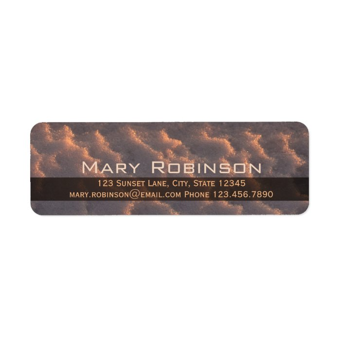 Sunset snow pattern CC0872 Return address Label