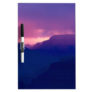 Sunset Snow Showers At Grand Canyon Dry Erase Whiteboard