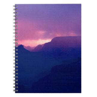 Sunset Snow Showers At Grand Canyon Spiral Notebook