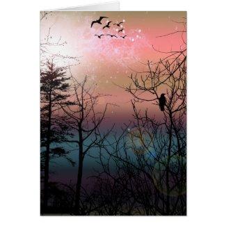 Sunset Solitude Gothic Landscape Fantasy card