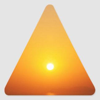 Sunset Soul Searching Triangle Sticker