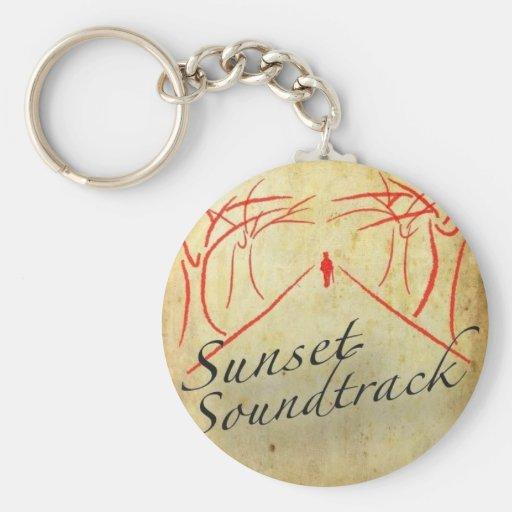 Sunset Soundtrack keychain