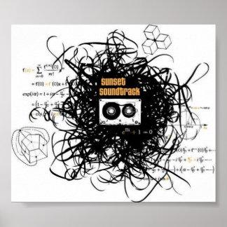 Sunset Soundtrack portfolio card stock Poster