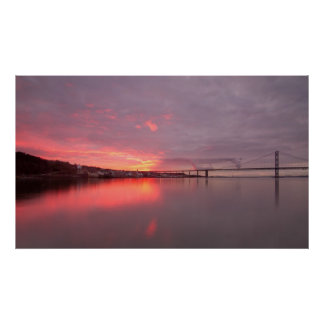 Sunset South Queensferry Poster