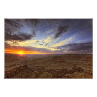 Sunset, south rim of the Grand Canyon, Grand Photo Print