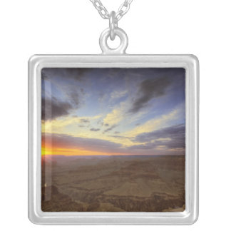 Sunset, south rim of the Grand Canyon, Grand Silver Plated Necklace