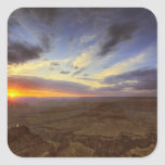 Sunset, south rim of the Grand Canyon, Grand Square Sticker