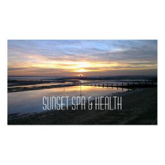 Sunset Spa & Health business card