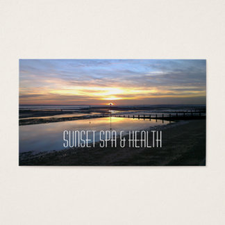 Sunset Spa & Health business card