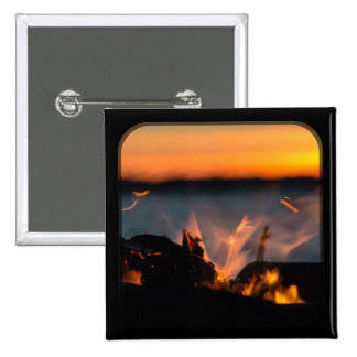 Sunset sparks 2 inch square button