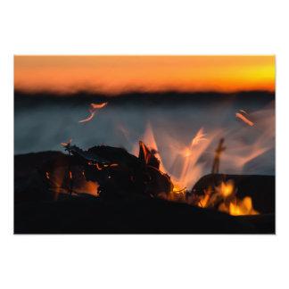 Sunset sparks photographic print