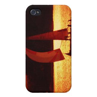 Sunset Spinnaker Sailboat iPhone 4 Case