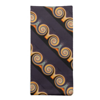 Sunset Spiral Diagonal Stripes Napkin